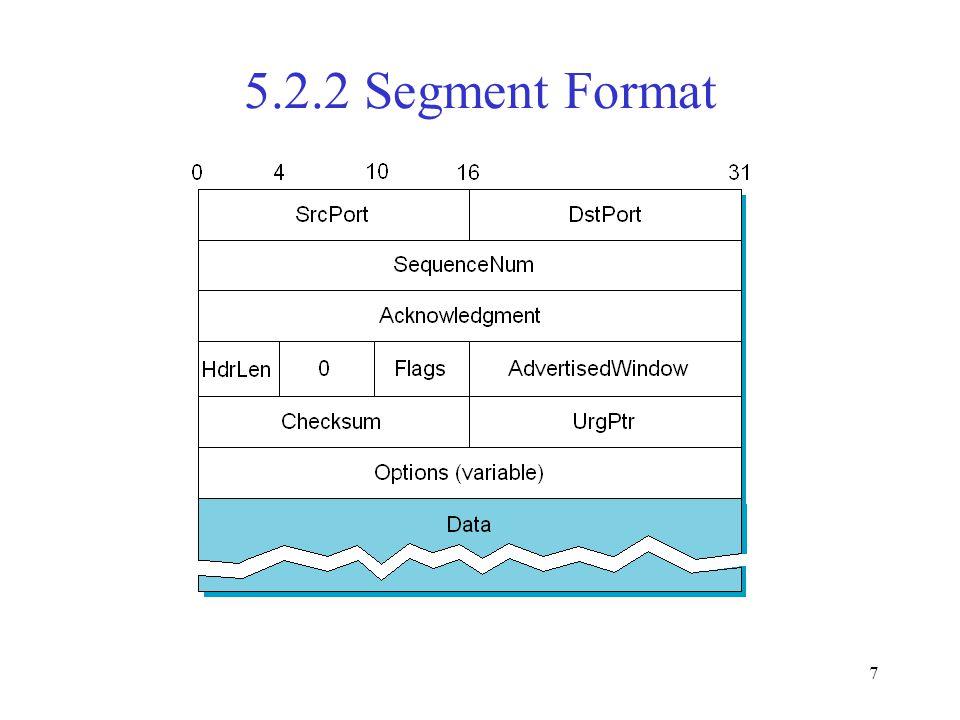 7 5.2.2 Segment Format