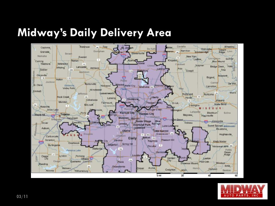 Midway's Daily Delivery Area 03/11