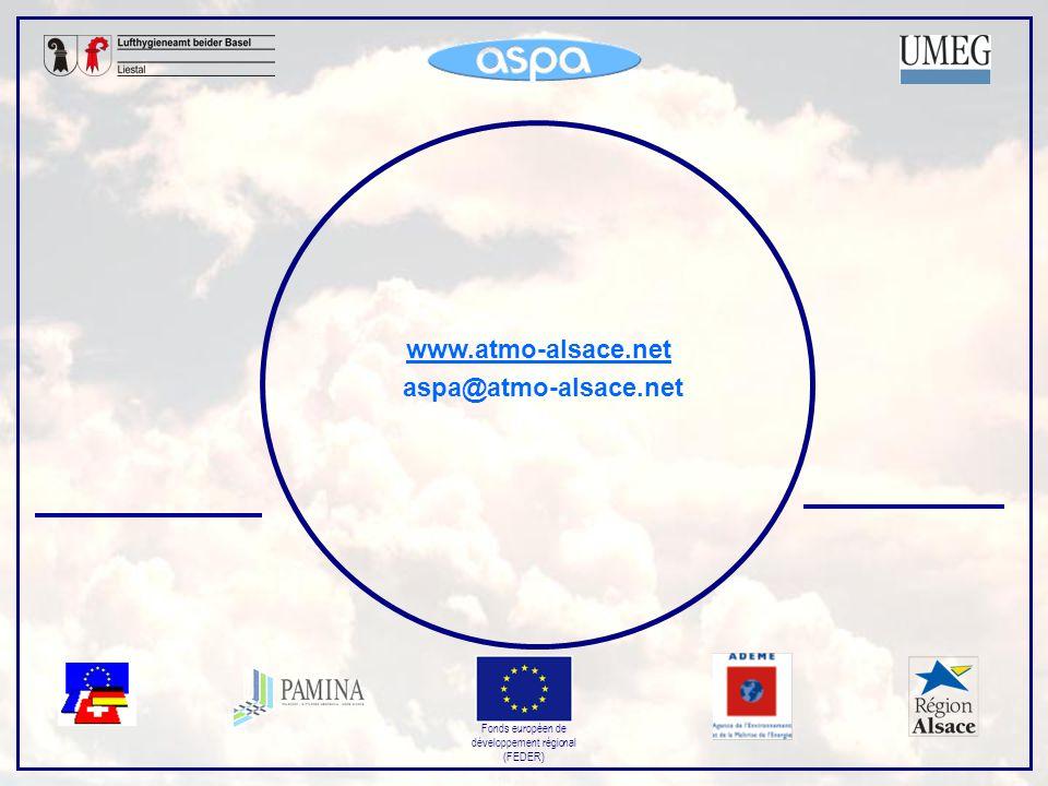 Fonds européen de développement régional (FEDER) www.atmo-alsace.net aspa@atmo-alsace.net