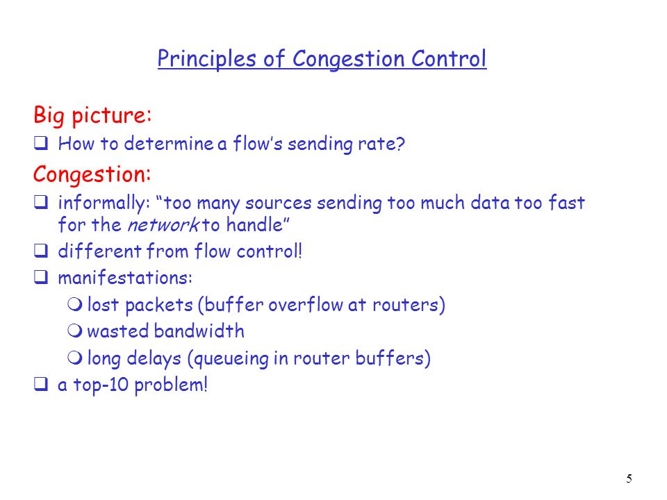 26 Fast Recovery Q: When should the exponential increase switch to linear.