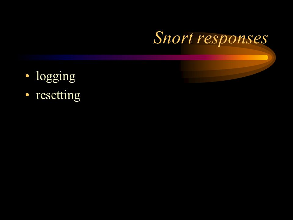 Snort responses logging resetting