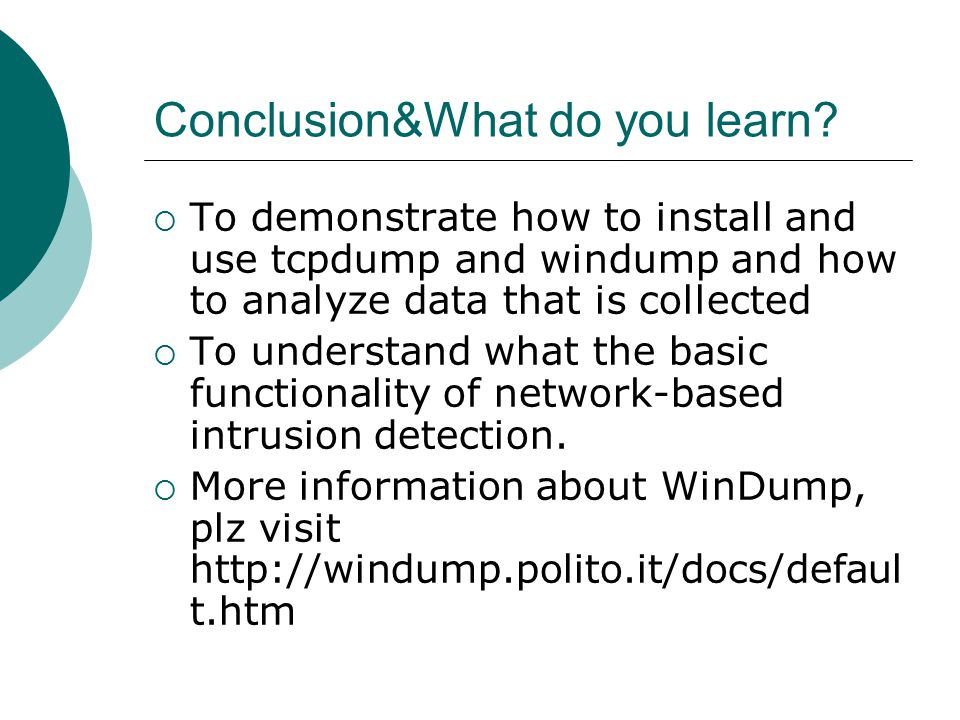 Conclusion&What do you learn.