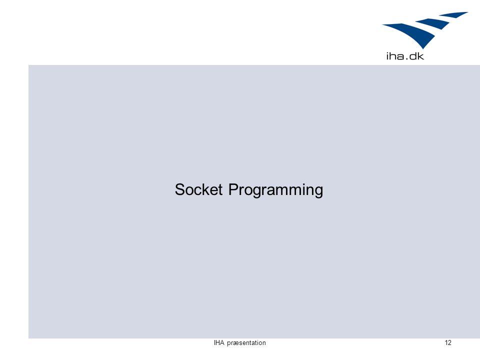 IHA præsentation12 Socket Programming