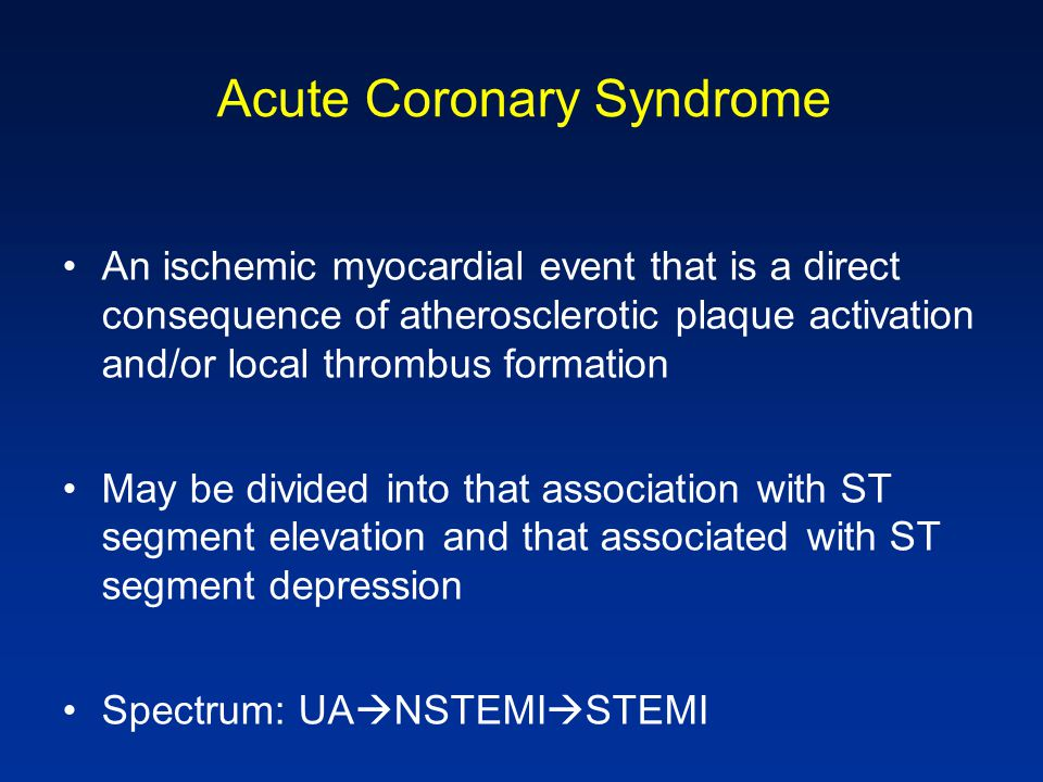 Acute Myocardial Infarction: Definition 1.