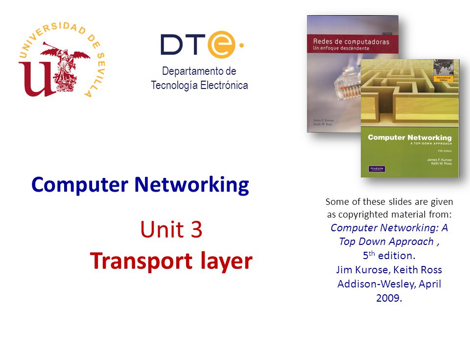 Transport Layer 3-22 Internet Checksum Example  Note: when adding numbers, a carryout from the most significant bit needs to be added to the result at the right-most position.