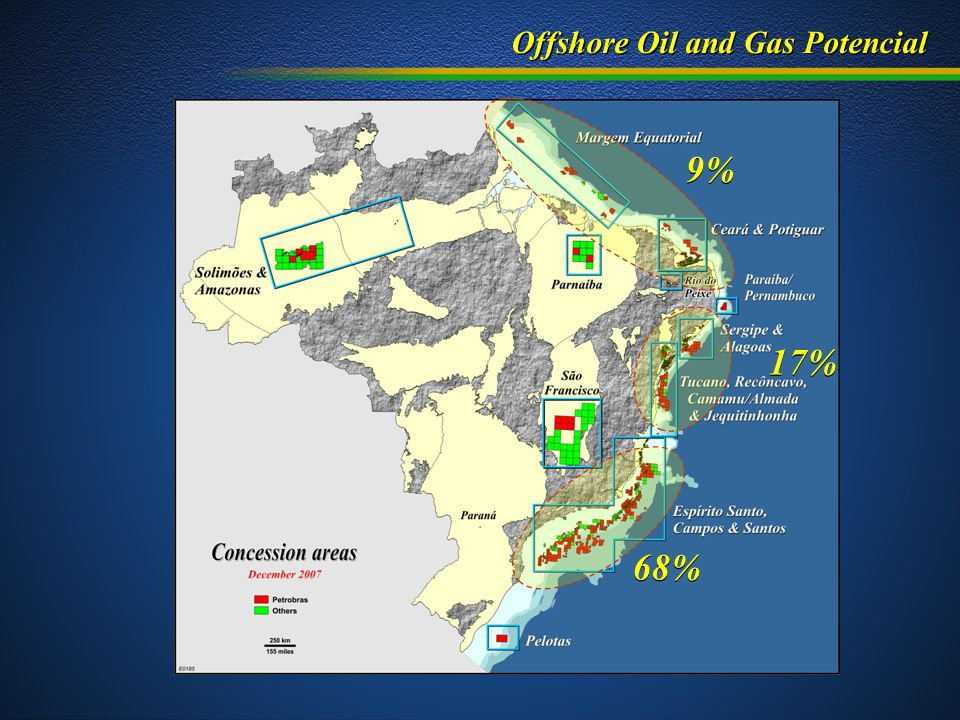 Offshore Oil and Gas Potencial 9% 17% 68%