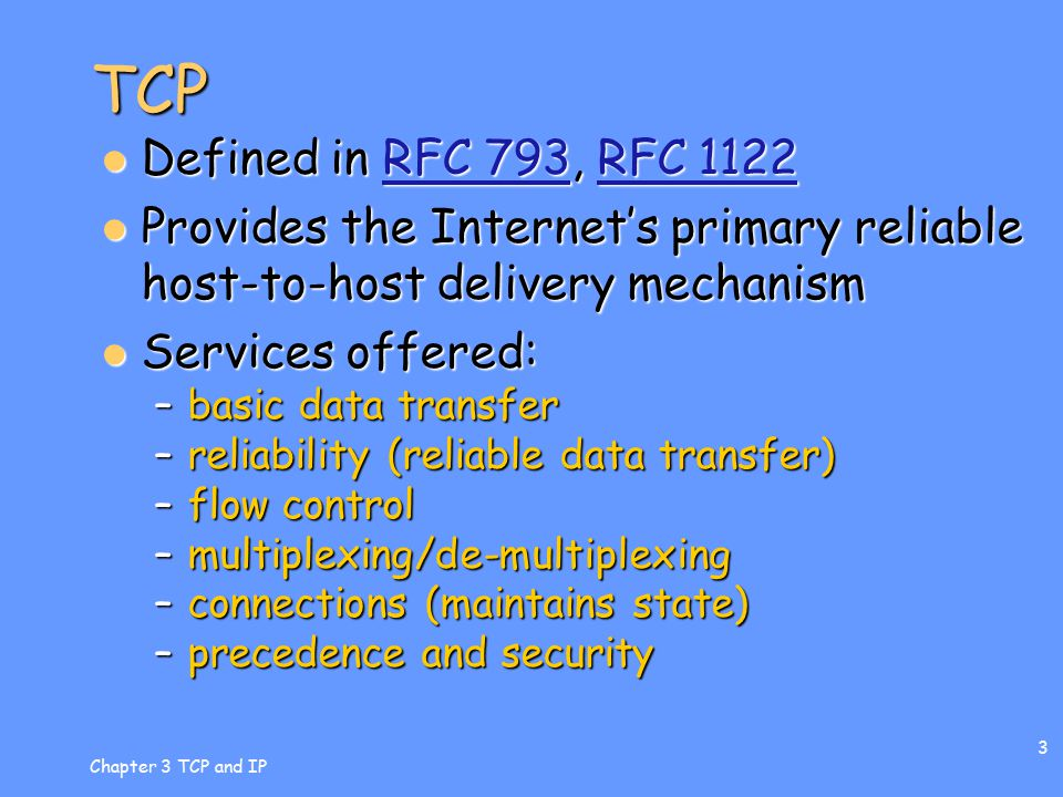 Chapter 3 TCP and IP 4 TCP Header