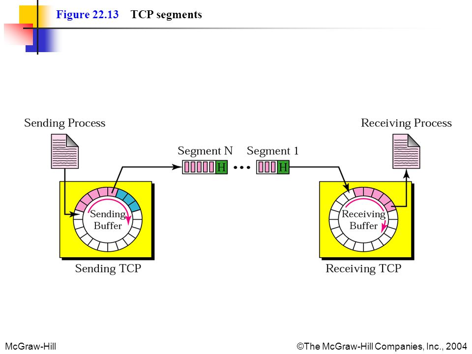 McGraw-Hill©The McGraw-Hill Companies, Inc., 2004 Figure 22.13 TCP segments