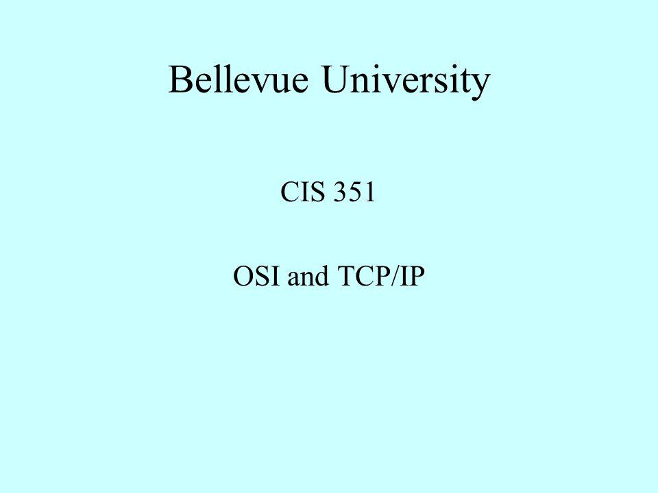 Bellevue University CIS 351 OSI and TCP/IP