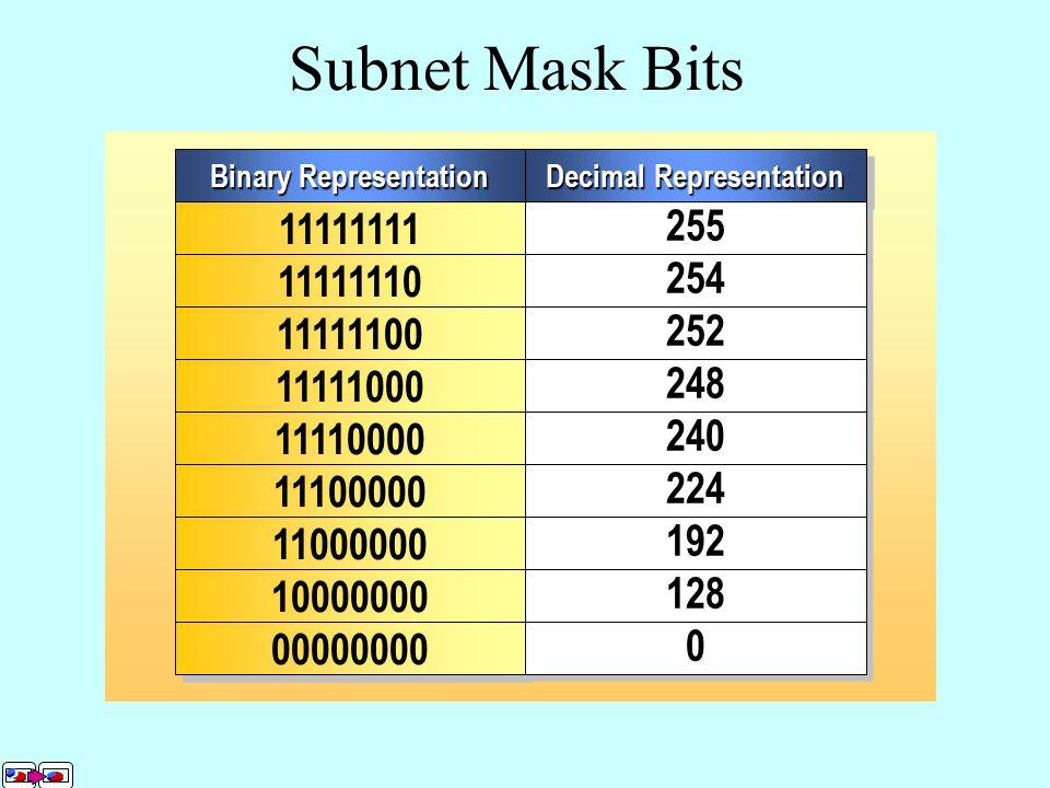 Subnet Mask Bits Network ID Host ID 1 1 1 1 1 1 1 1 1 1 1 1 1 1 1 1 1 1 1 1 1 1 1 1 1 1 1 1 1 1 1 1 1 1 1 1 1 1 1 1 1 1 1 1 1 1 1 100000000 wxyz 10. 2