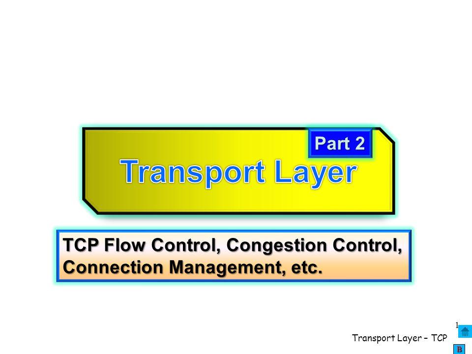 Transport Layer – TCP 2 BBBB Encapsulation in TCP/IP IP datagram
