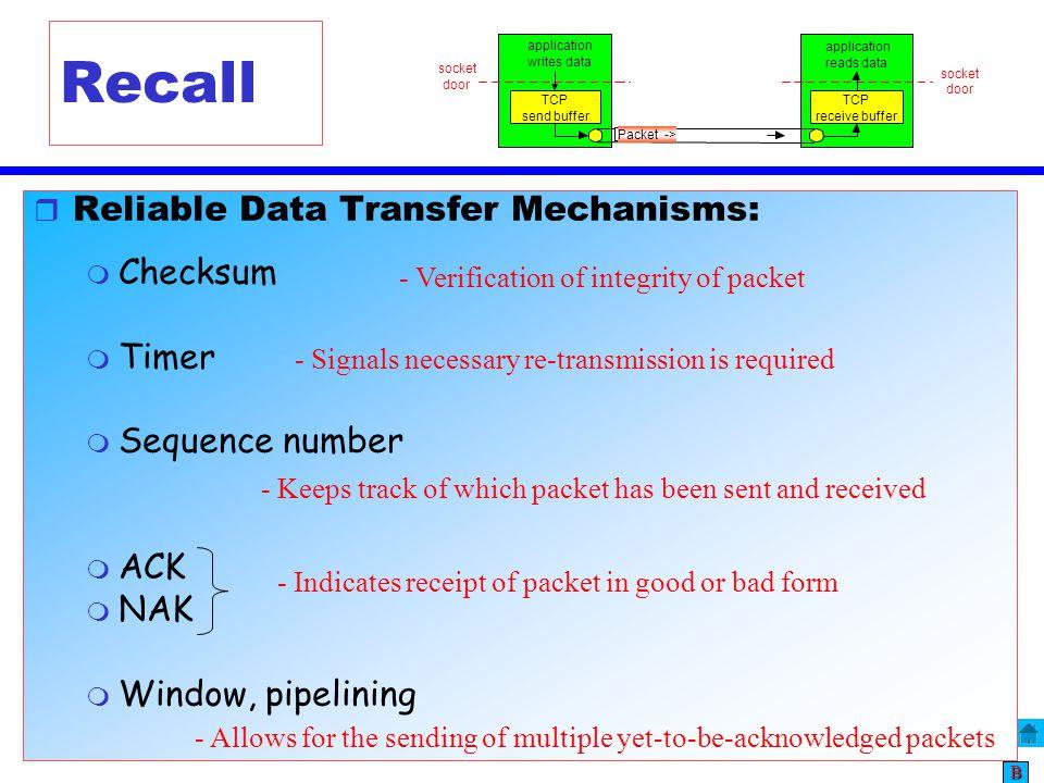 Transport Layer – TCP 35 BBBB Flow Control vs.