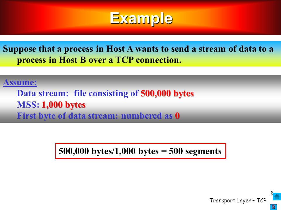 Transport Layer – TCP 49 BBBB Transport Layer 3- 49 Macroscopic Description of TCP throughput  what's the average throughout of TCP as a function of window size and RTT.