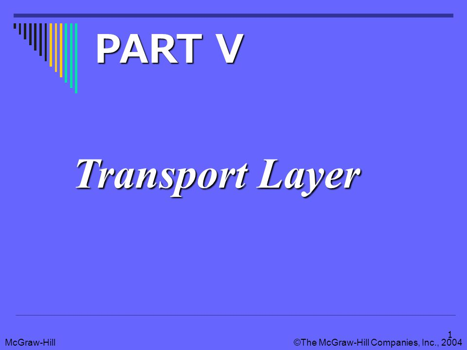 McGraw-Hill©The McGraw-Hill Companies, Inc., 2004 2 Position of Transport Layer