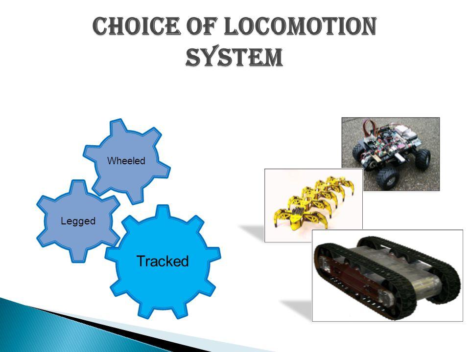 Choice of locomotion system Tracked Legged Wheeled
