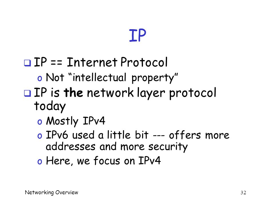 Networking Overview 31 FTP vs UDP  Which is more secure.