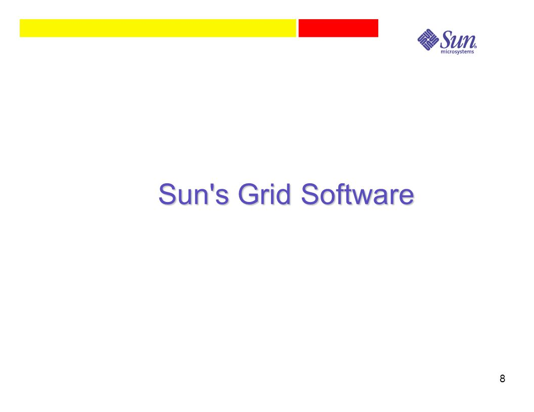 8 Sun s Grid Software