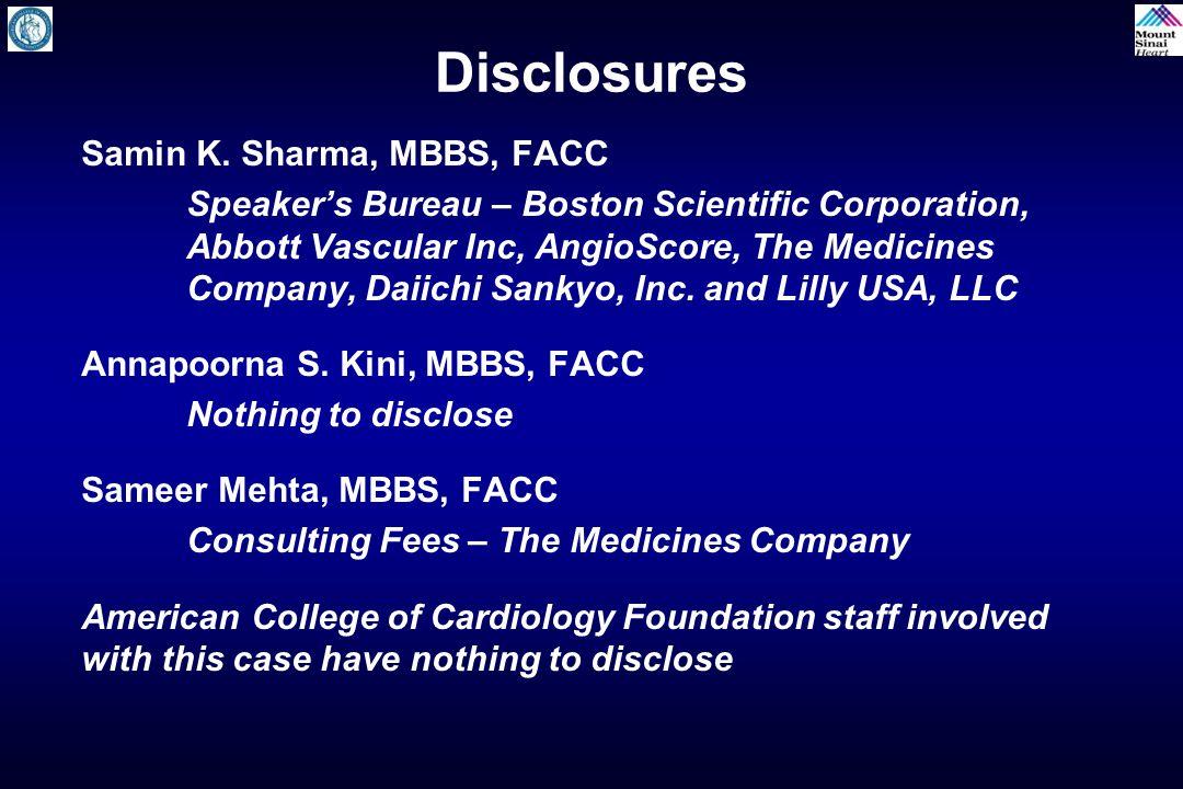 Disclosures Samin K.