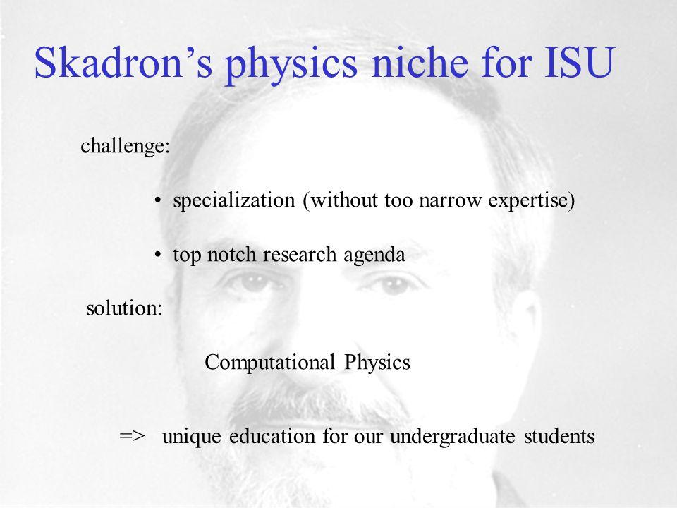 Professor George Skadron Physics Chair 1986 - 1997