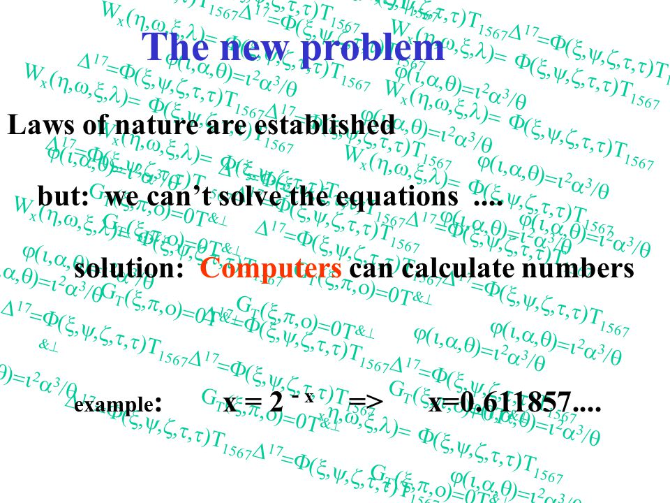 Traditional Physics Nature experiment theory experiment Nature