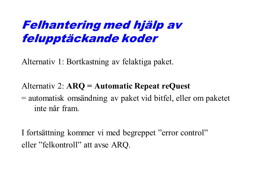 11.9 Go-Back-N ARQ, normal operation