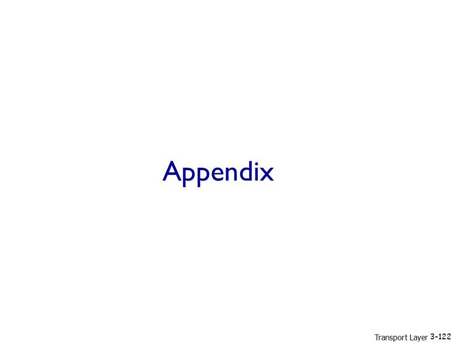 Appendix Transport Layer 3-122