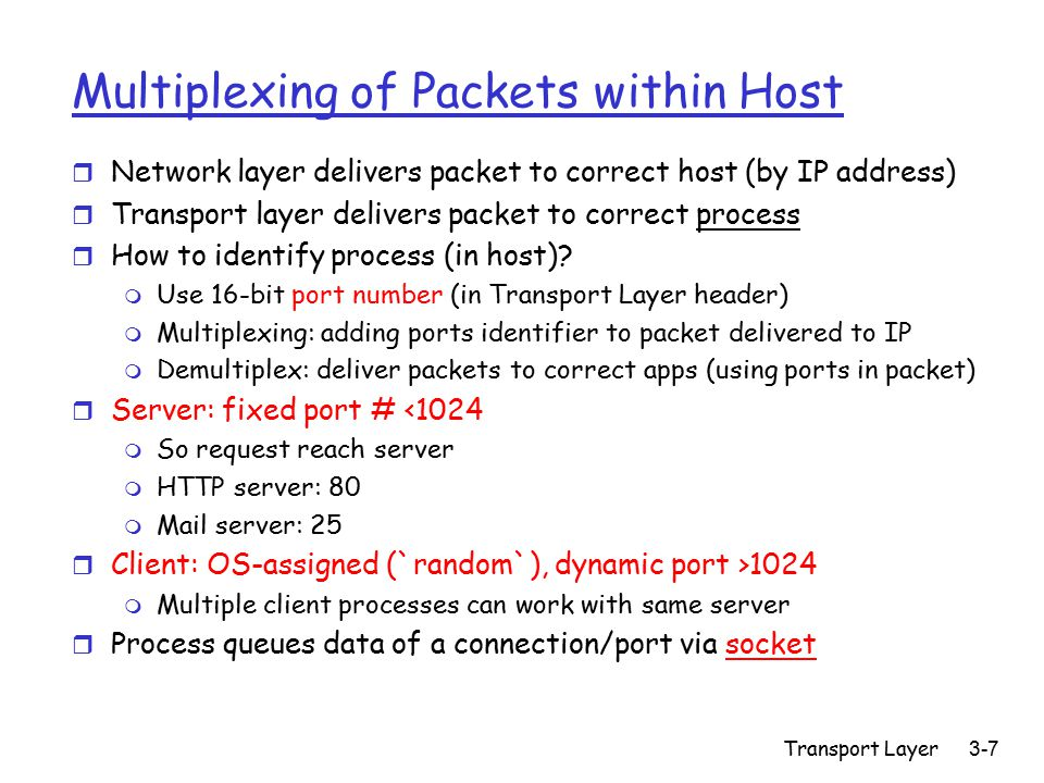 Transport Layer3-118 Response to TimeOut vs.