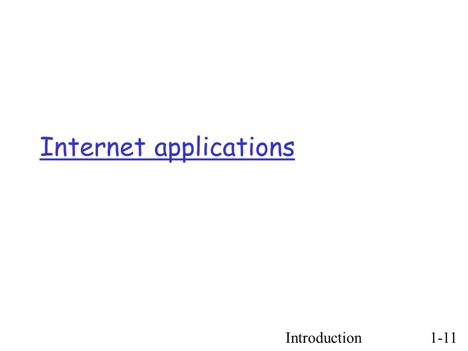 Introduction1-11 Internet applications