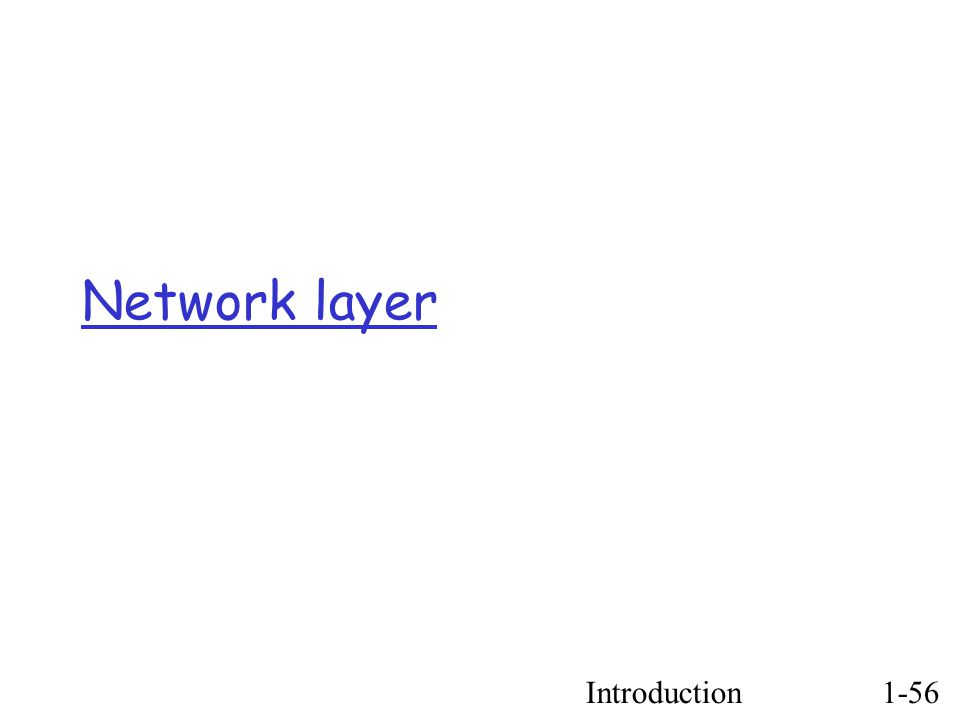 Introduction1-56 Network layer
