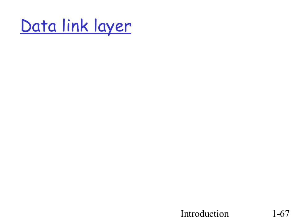 Introduction1-67 Data link layer