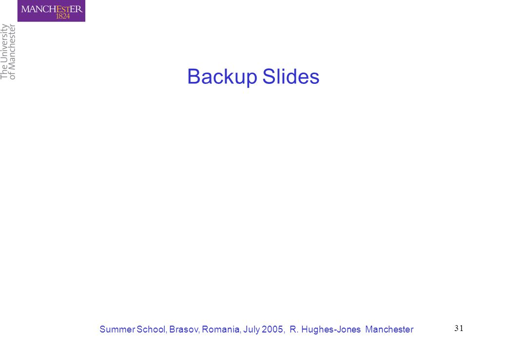 Summer School, Brasov, Romania, July 2005, R. Hughes-Jones Manchester 31 Backup Slides
