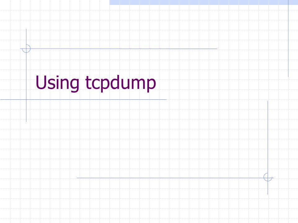 Using tcpdump