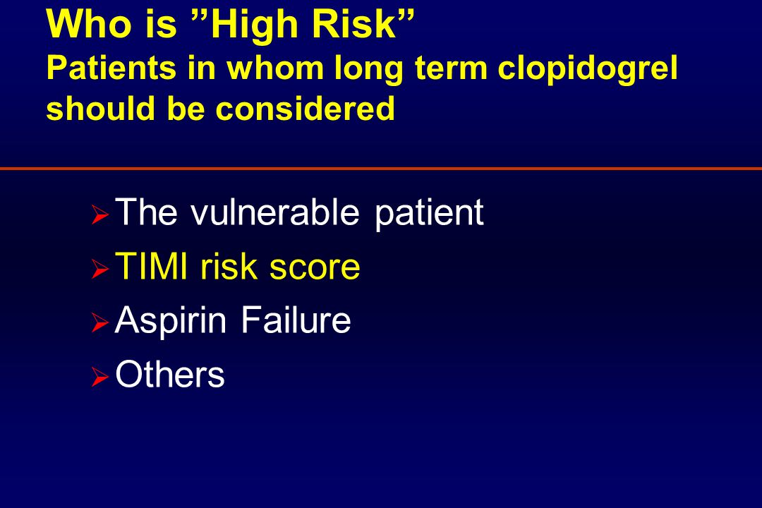 TIMI Risk Score and Outcome Budaj et al.