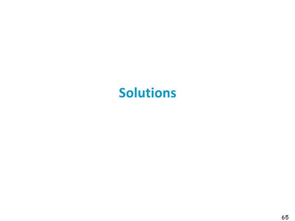 65 Solutions