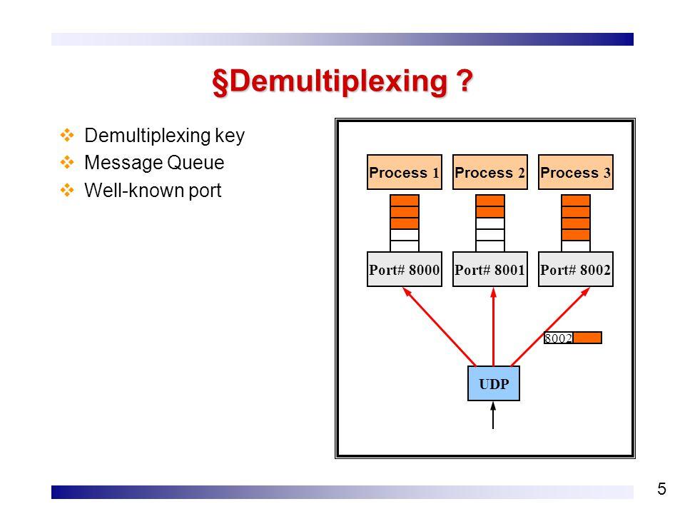 5 §Demultiplexing .
