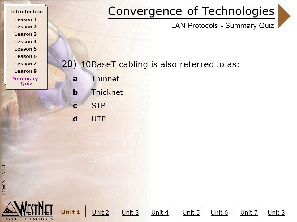 Convergence of Technologies ©2000 WestNet, Inc.