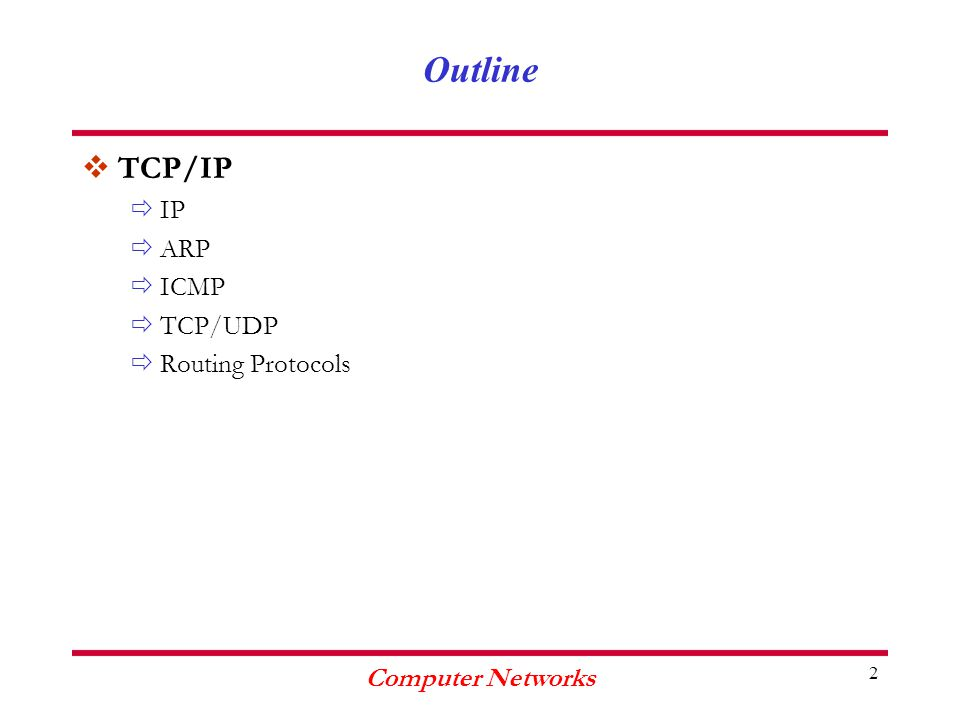 Computer Networks 83 Congestion Control in TCP vThe TCP protocol reduces its traffic when it notices a segment loss ðThe sender maintains a congestion window with a value that depends on the network load ðThe sender maintains at the same time a flow control window where its value is managed by the receiver using the Window field of the TCP segment ðThe window with the minimal size determines the number of bytes that the sender can sends without receiving an acknowledgement