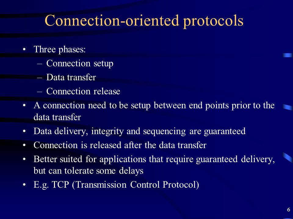 17 TCP Segment fields...