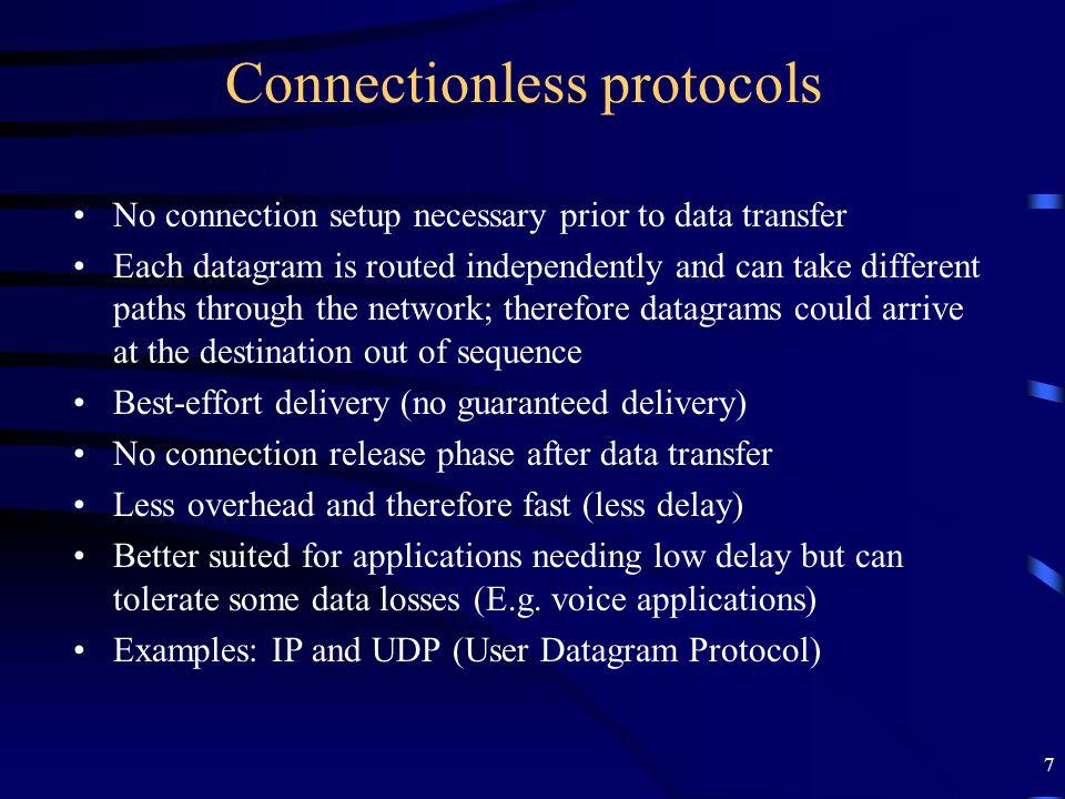 18 TCP Segment fields...
