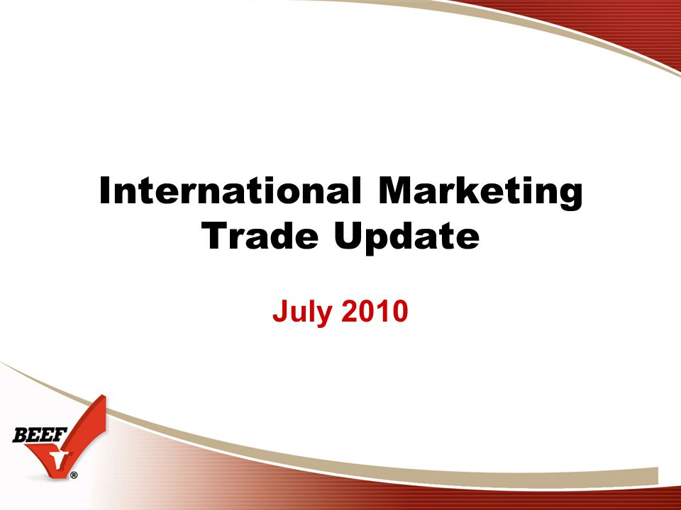 International Marketing Trade Update July 2010