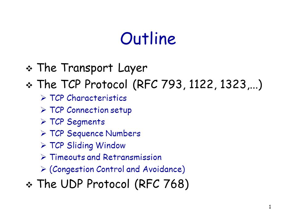 52 User-Datagram Protocol (UDP) App A1A1 A2A2 B1B1 B2B2 UDP OS IP Like TCP, UDP uses port number to demultiplex packets