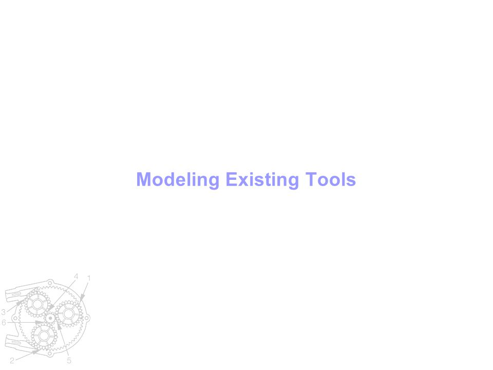 Modeling Existing Tools