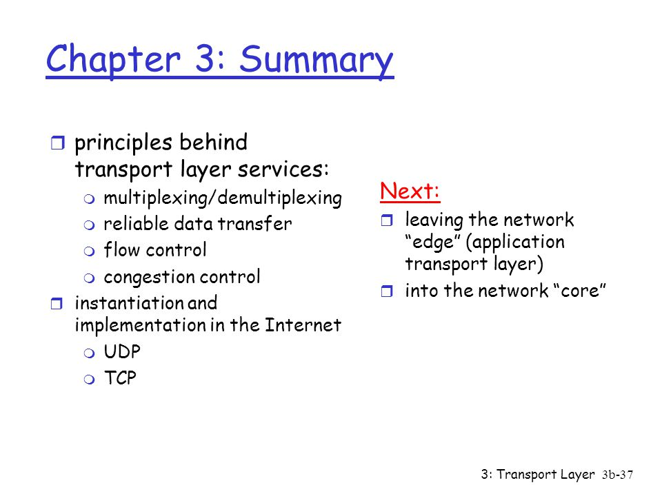 3: Transport Layer3b-36 Why is TCP fair.