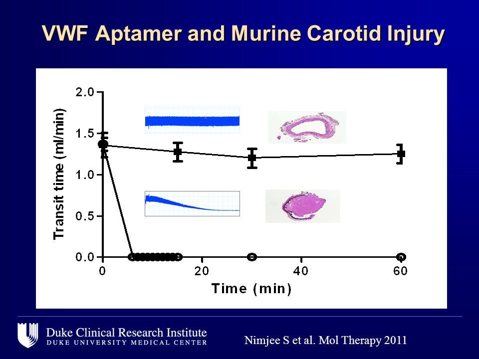 VWF Aptamer and Murine Carotid Injury VWF Aptamer and Murine Carotid Injury Nimjee S et al.