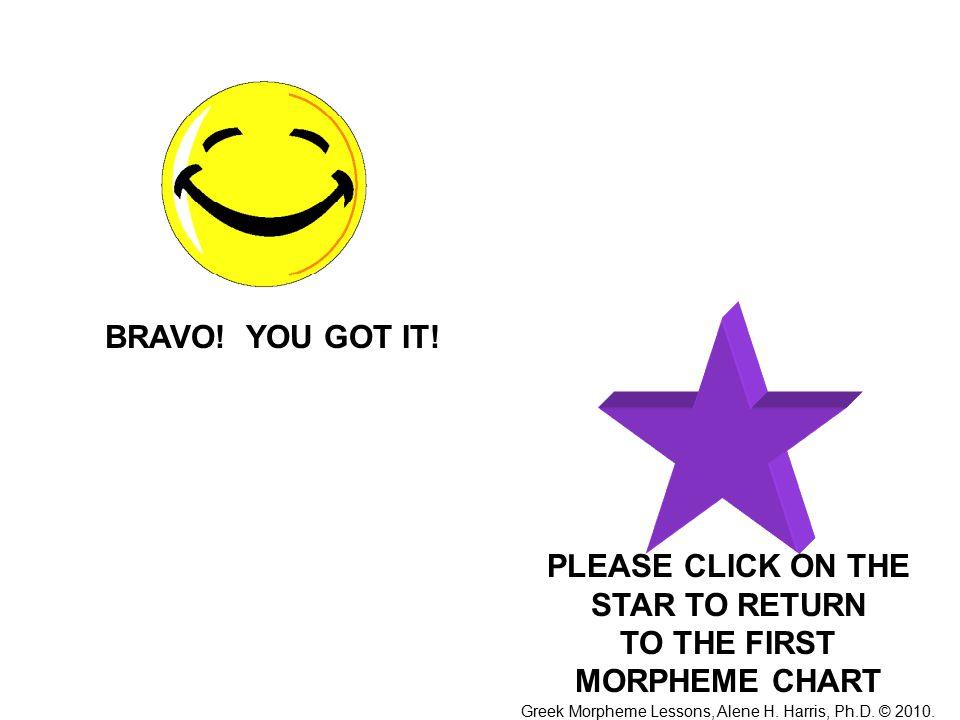 BRAVO. YOU GOT IT.