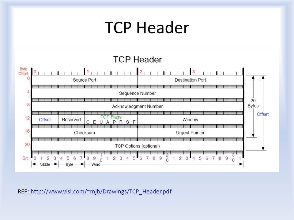 TCP Header REF: http://www.visi.com/~mjb/Drawings/TCP_Header.pdfhttp://www.visi.com/~mjb/Drawings/TCP_Header.pdf