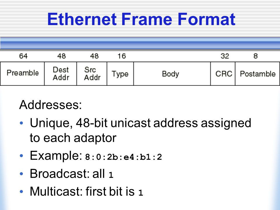Segment Format Each connection identified with 4-tuple:  Sliding window + flow control  Acknowledgment, SequenceNum, AdvertisedWindow Flags:  SYN, FIN, RESET, PUSH, URG, ACK Checksum: pseudo header + tcp header + data Src PortDest Port Advertised Window Acknowledgement SequenceNum CheckSum Flags options UrgPtr 0 (4)(6) (variable) data HdrLen