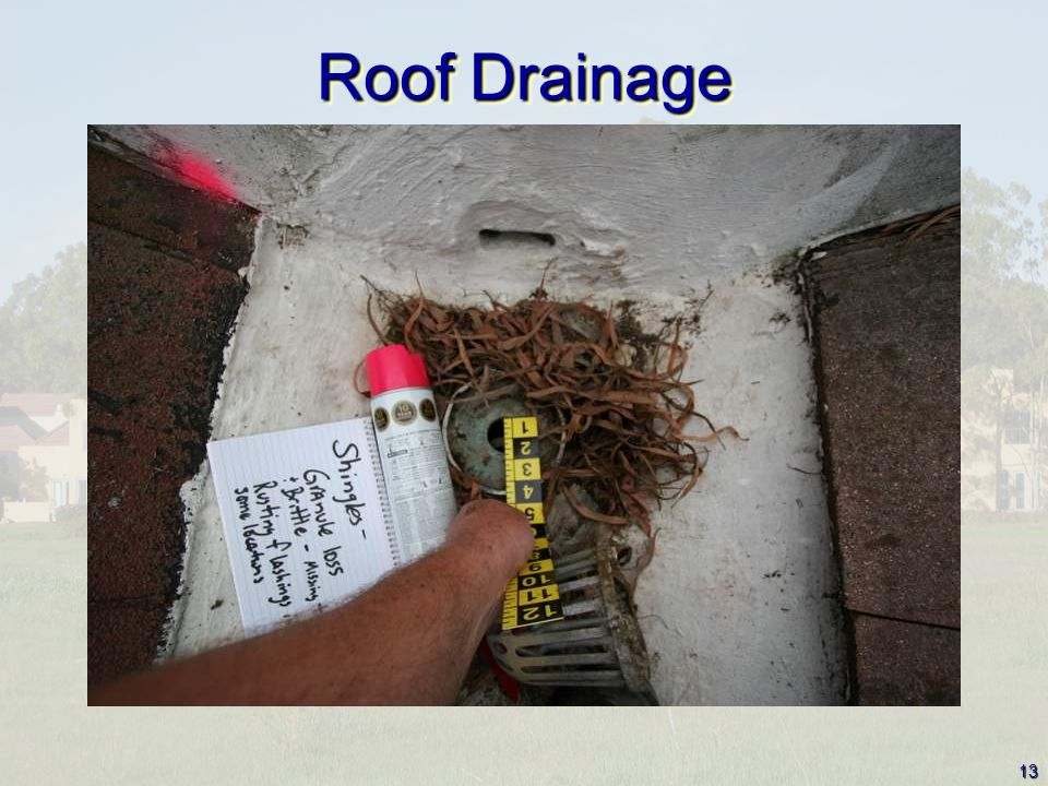 13 Roof Drainage
