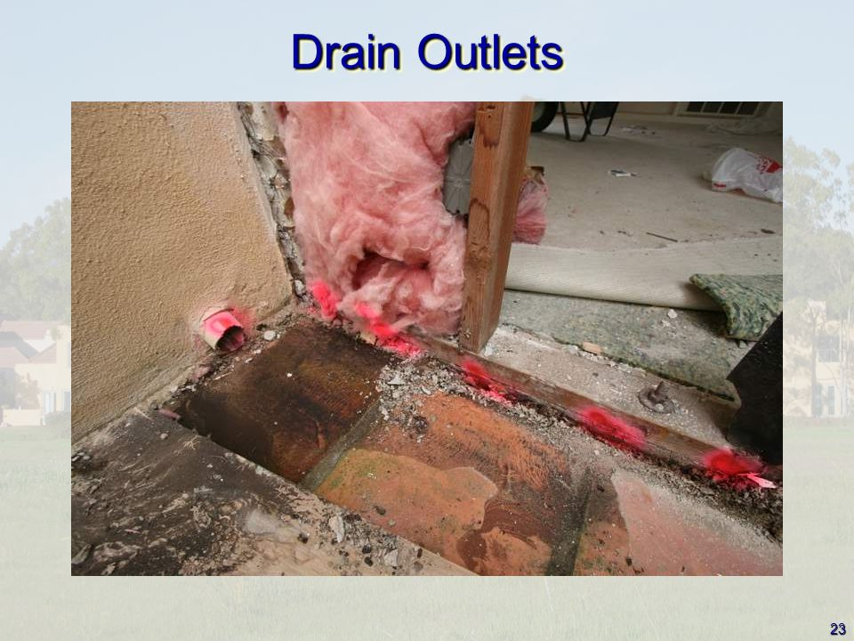 23 Drain Outlets