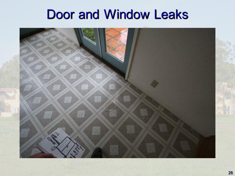 28 Door and Window Leaks